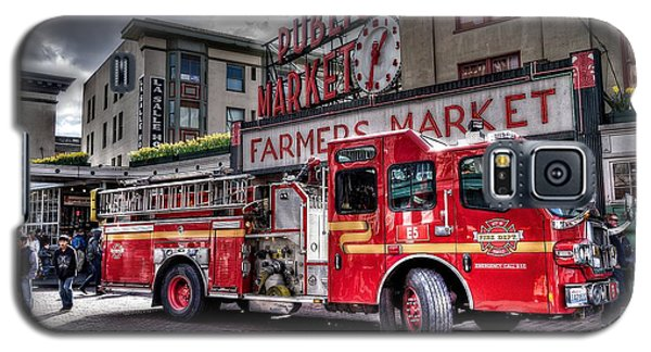 Seattle Fire Engine Galaxy S5 Case by Spencer McDonald