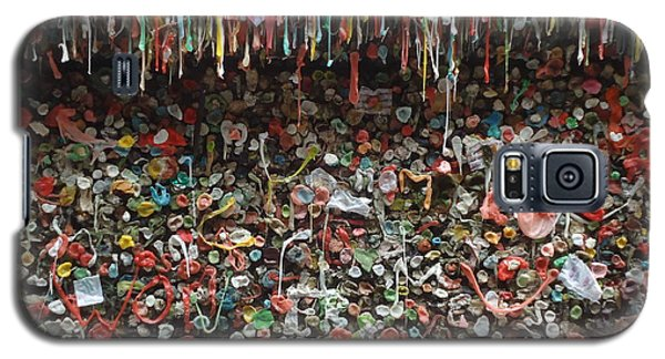 Galaxy S5 Case featuring the photograph Seattle Gum Wall 3 by Ann Johndro-Collins