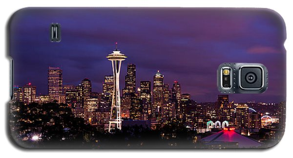 Seattle Night Galaxy S5 Case by Chad Dutson
