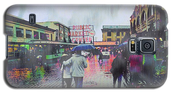 Seattle Public Market In Rain Galaxy S5 Case