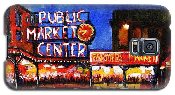 Seattle Public Market Galaxy S5 Case by Marti Green