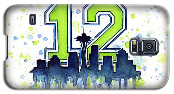 Seattle Seahawks 12th Man Art Galaxy S5 Case by Olga Shvartsur