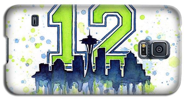 Seattle Seahawks 12th Man Art Galaxy S5 Case by Olga Shvartsur