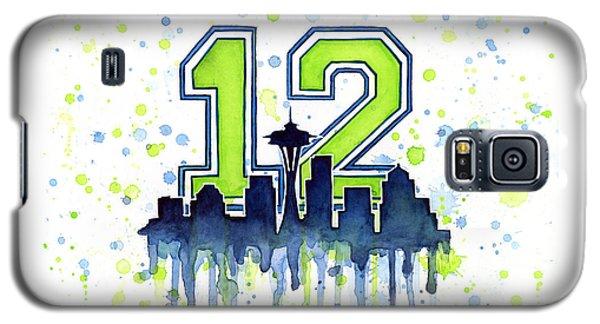 Seattle Seahawks 12th Man Art Galaxy S5 Case