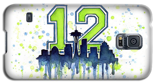 Seattle Seahawks 12th Man Art Galaxy S5 Case