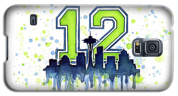 Sport Galaxy S5 Case - Seattle Seahawks 12th Man Art by Olga Shvartsur
