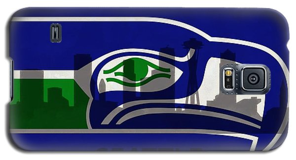 Seattle Seahawks On Seattle Skyline Galaxy S5 Case