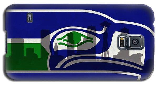 Seattle Seahawks On Seattle Skyline Galaxy S5 Case