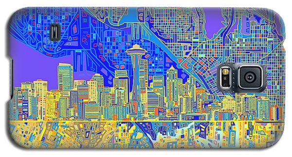 Seattle Skyline Abstract 6 Galaxy S5 Case