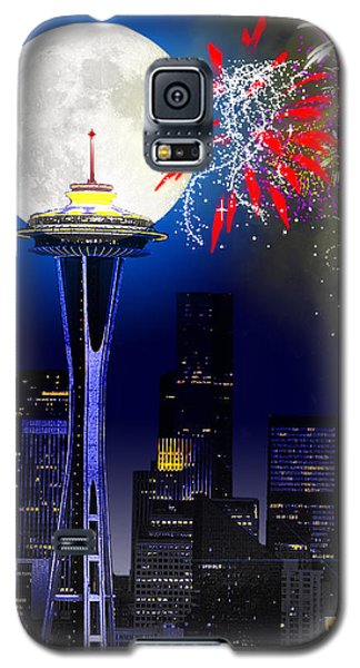 Seattle Skyline Galaxy S5 Case by Methune Hively