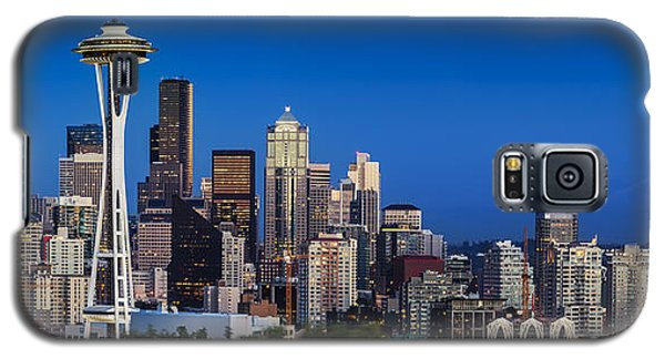 Seattle Skyline Panoramic Galaxy S5 Case