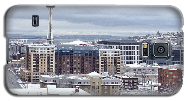 Seattle Space Needle In Snow Galaxy S5 Case