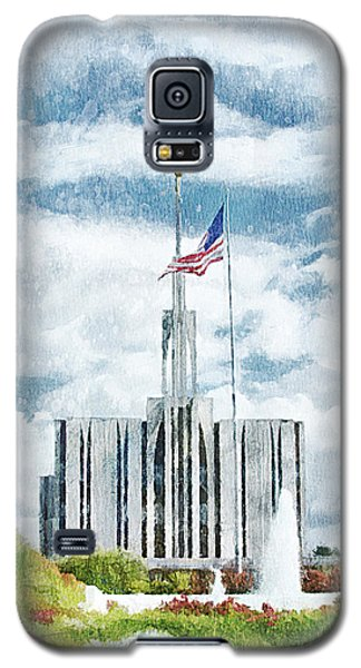 Seattle Temple 1 Galaxy S5 Case by Greg Collins