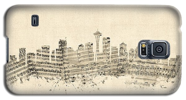 Seattle Washington Skyline Sheet Music Cityscape Galaxy S5 Case