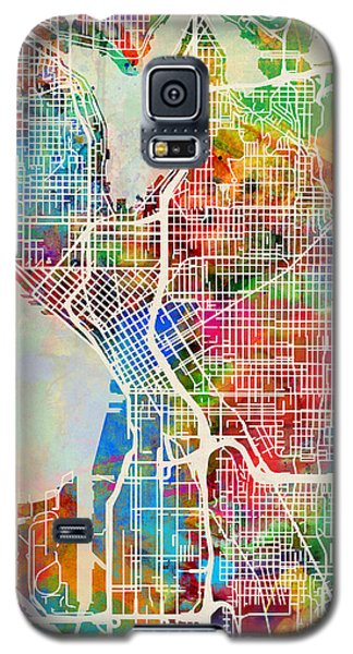 Seattle Washington Street Map Galaxy S5 Case by Michael Tompsett