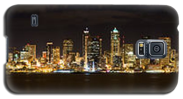 Seattle Waterfront At Night Panoramic Galaxy S5 Case