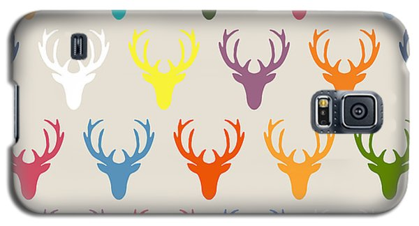 Seaview Simple Deer Heads Galaxy S5 Case by Sharon Turner