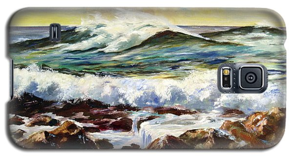 Galaxy S5 Case featuring the painting Seawall by Lee Piper