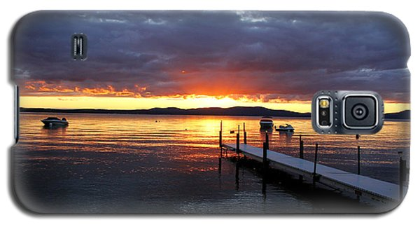 Sebago Lake Sunset Galaxy S5 Case by Butch Lombardi