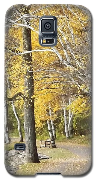 Secluded Lake Road Galaxy S5 Case by Bill Woodstock