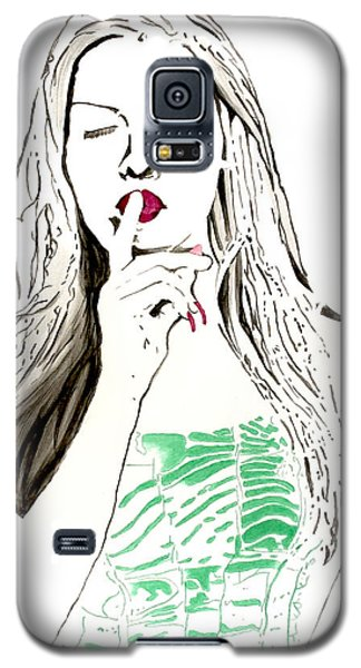 Galaxy S5 Case featuring the painting Secret by Denise Deiloh