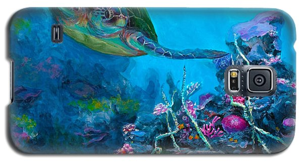 Secret Sanctuary - Hawaiian Green Sea Turtle And Reef Galaxy S5 Case
