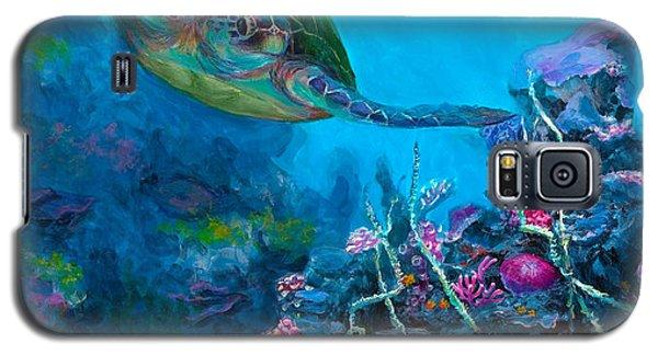 Secret Sanctuary - Hawaiian Green Sea Turtle And Reef Galaxy S5 Case