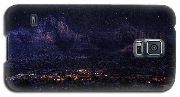 Galaxy S5 Case featuring the photograph Sedona By Night by Lynn Geoffroy