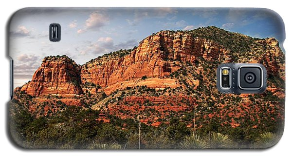 Galaxy S5 Case featuring the photograph Sedona Vortex  And Yucca by Barbara Chichester