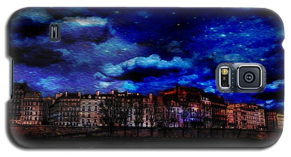 Seine River Paris France Galaxy S5 Case by James Bethanis