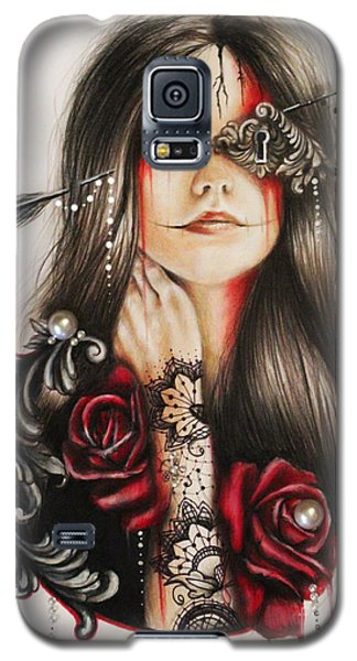 Galaxy S5 Case featuring the drawing Self Affliction by Sheena Pike