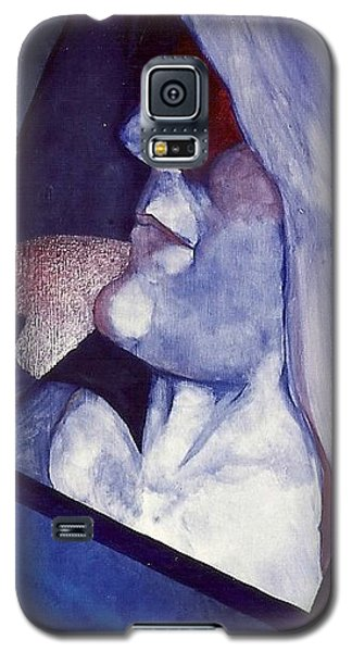 Galaxy S5 Case featuring the painting Self Portrait by Carrie Maurer