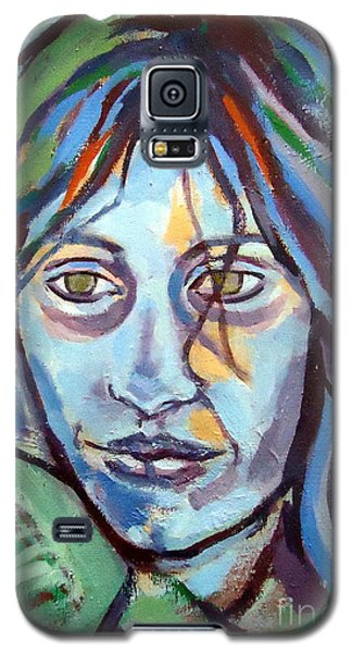 Galaxy S5 Case featuring the painting Self Portrait by Helena Wierzbicki