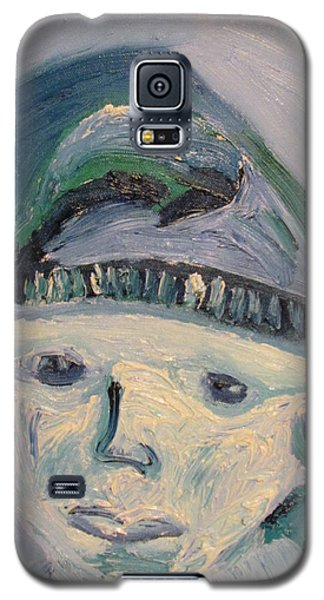 Self Portrait In Blue And Green Galaxy S5 Case by Shea Holliman