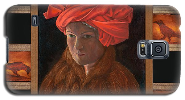 Self-portrait In The Red Turban Galaxy S5 Case by Alla Parsons