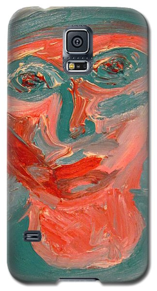 Self Portrait In Turquoise And Rose Galaxy S5 Case by Shea Holliman
