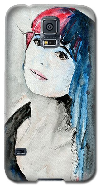 Galaxy S5 Case featuring the painting Self Portrait  by Ismeta Gruenwald