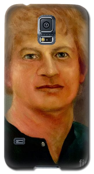 Galaxy S5 Case featuring the painting Self Portrait by Randol Burns