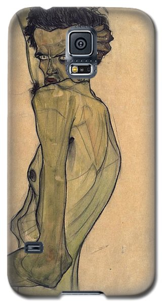 Self-portrait With Arm Twisted Above Head Galaxy S5 Case