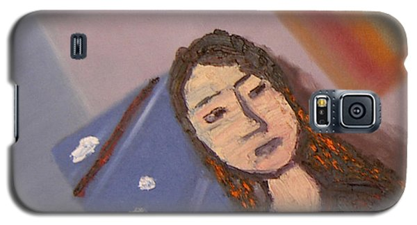 Galaxy S5 Case featuring the painting Self-portrait2 by Min Zou