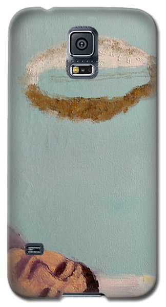 Galaxy S5 Case featuring the painting Self-portrait4 by Min Zou