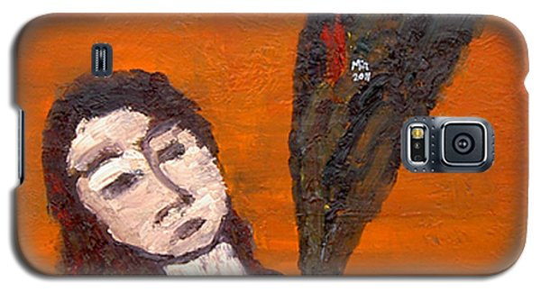 Galaxy S5 Case featuring the painting Self-portrait5 by Min Zou