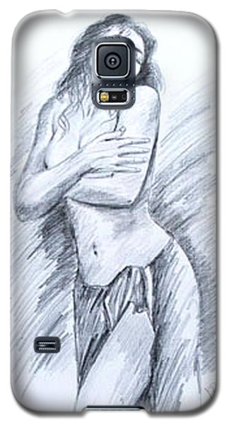 Galaxy S5 Case featuring the painting Semi Nude by Ragunath Venkatraman
