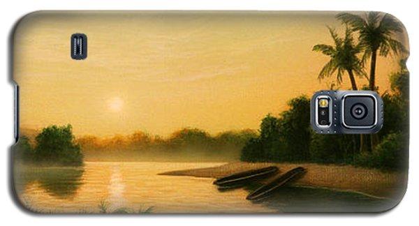 Egret Galaxy S5 Case - Seminole Sunset by Jerry LoFaro