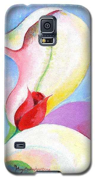Galaxy S5 Case featuring the painting Sensitive Touch by Mary Armstrong