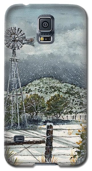 Galaxy S5 Case featuring the painting Sentinel Peak On Sentinel Ranch by Tim Oliver