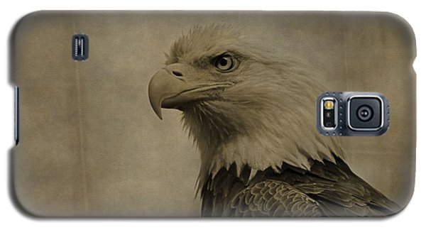 Sepia Bald Eagle Portrait Galaxy S5 Case by Dan Sproul