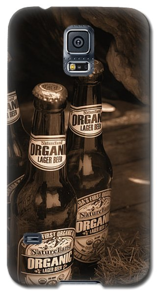 Galaxy S5 Case featuring the photograph Sepia Bottles by Rachel Mirror