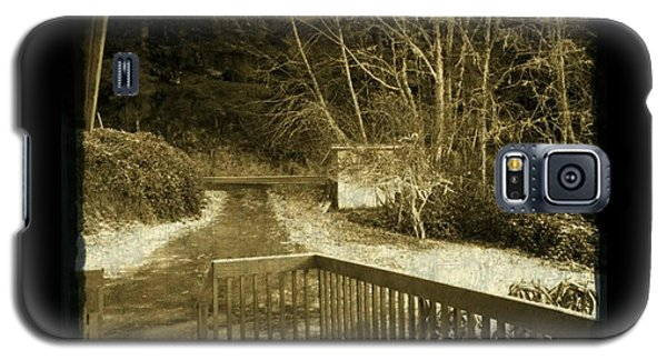 Sepia - Country Road First Snow Galaxy S5 Case by Absinthe Art By Michelle LeAnn Scott