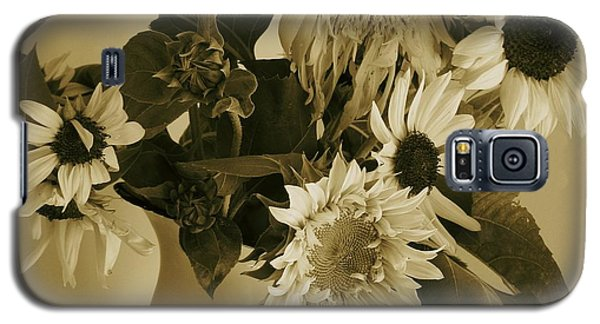 Sepia Garden Sunflower Bouquet Galaxy S5 Case